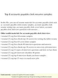 Accounting Specialist Resume Custom Resume Accounts Payable Sample Cover Letter Clerk Templates