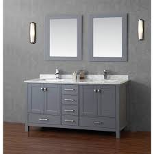 gray double sink vanity. bathroom : carmine transparent double sink table white stained wooden frame glass window grey varnished gray vanity