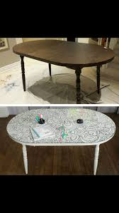 diy coloring table use rustoleum dry erase paint and than free hand pencil on