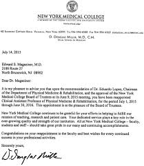 Letter Of Recommendation For Appointment To Board Dr Magaziner Reappointed As Professor Of Physical Medicine