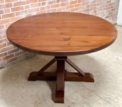 reclaimed wood round table 48 round oak table phoenix pedestal brow cherry