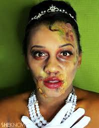 princess tiana zombie makeup