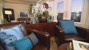 living rooms in blue and brown