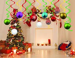 Christmas Swirls Lhkser 30 Ct Merry Christmas Swirls Decoration Kit Hanging Swirl Decorations Winter Wonderland Xmas Holiday Party Supplies