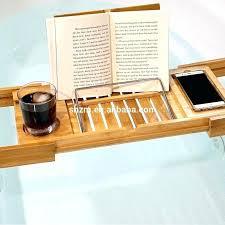 bathtub reading tray book stand for bathtub new design bamboo shelf