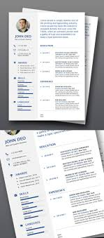 50 Free Cv Resume Templates Best For 2019 เรซเม Modern Cv