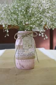 Decorating With Mason Jars And Burlap Mason Jar Baby Breath Centerpiece chalk paint mason jar 16
