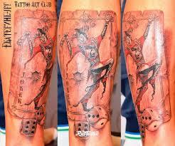 игральные карты значение татуировок в россии Rustattooru