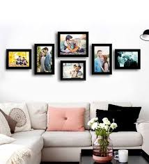 black picture frames wall. Simple Black Black Fibre Wood Simple Straight Individual Wall Photo Frame  Set Of 6 By  Art Street Intended Picture Frames