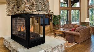 monessen arlington designer peninsula direct vent gas fireplace with signature command control system 36 inch