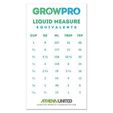 Milliliters To Cups Conversion Chart Buy Grow Pro Liquid Measure Magnet Weight Volume Conversion