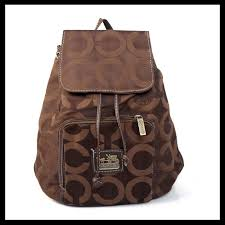 The Latest Coach Classic In Signature Medium Coffee Backpacks EJB Makes You  More Fashionable And Elegant!