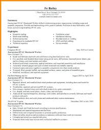 Sample Resume For A Construction Worker Sample Resume Construction