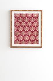 damask framed wall art
