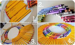 Crayon Rings Crayon Pencil Wreath Back To School Craft