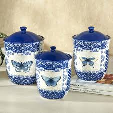 kitchen ceramic canisters sets indigo nature erfly kitchen canister set apple ceramic kitchen canister sets