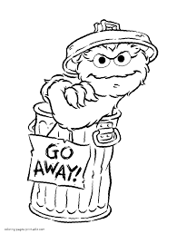 Small Picture Alice Sesame Street coloring pages for free