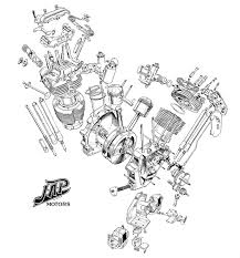 j a p v twin engine diagram custom bobber chopper cafe racer j a p v twin engine diagram
