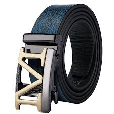 Mens Blue Designer Belts Details About Usa Blue Leather Mens Belts Designer Hollow M Ratchet Buckle Italian Dress Strap