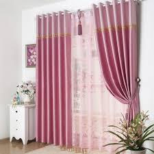 Modern Patterned Pink floral window curtains design