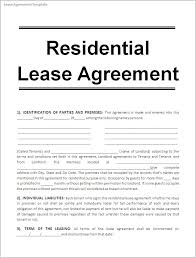Lease Agreement Example Example Of A Lease Agreement 9 Sample Form Rental Format