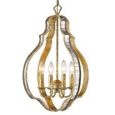 Midwest Lighting Hollywood Old Hollywood Glam Lantern 4 Light Lighting Old