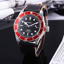 aliexpress com buy 41mm corgeut sapphire glass red rotatable aliexpress com buy 41mm corgeut sapphire glass red rotatable bezel watches 21 jewels miyota automatic wristwatch 20atm mens diving watch from reliable