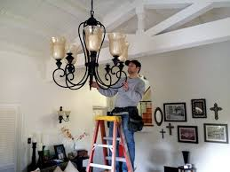 how to chandelier lights installation