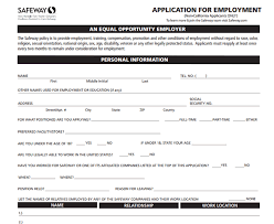 Safeway Application Pdf Print Out