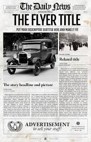 Old Fashion Newspaper Template 5 Newspaper Style Templates Bundle By Newspaper Templates On