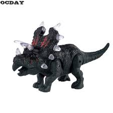 Triceratops Light Us 6 49 Ocday Led Electronic Dinosaur Triceratops Toy Flashing Light Sound Walking Imitated Dinosaur Children Toy Birthday Surprise Gift In Light Up