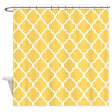yeho art gallery mustard yellow quatrefoil pattern fabric shower curtain super soft bath curtain great for friends birthday gift 66 x 72 inch