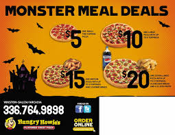 2016 monster meal deals mailer this piece was designed with a theme to promote four new specials hungry howie s pizza is running
