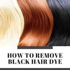 how to remove black hair dye bellatory