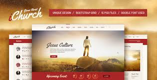 Church Website Templates Fascinating IChurch PSD Template By Themefire ThemeForest