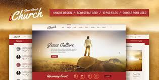 Church Website Templates Fascinating IChurch PSD Template By Themefire ThemeForest