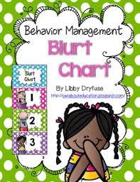 Behavior Management Blurt Chart Behavior Management