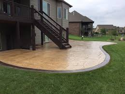 image of concrete patio ideas pictures