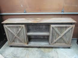 custom top barn door cabinet