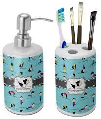 Bathroom Accessories Yoga Poses Bathroom Accessories Set Ceramic Personalized