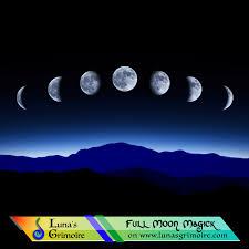 Wiccan Moon Chart The Esbats Lunas Grimoire Full Moon Correspondences