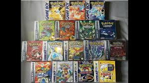 POKEMON FULL GAME COLLECTION (UK) FOR NINTENDO GAMEBOY / ADVANCE GBA /  COLOR GBC - WE CAUGHT EM ALL! - YouTube