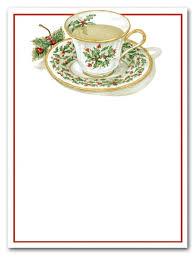 Christmas Tea Party Invitations Christmas Teacup