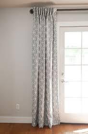 hanging curtains over sliding gl door womenof info