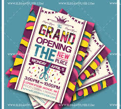 Free Grand Opening Flyer Template 59 Premium Free Psd Party Night Club Flyer Templates For
