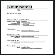 Professional Format Of Resume Resume Template Fresher Functional