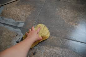 how to grout tile wiping clean