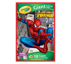 You can easily print or download them at your convenience. Giant Coloring Pages Marvel Spider Sense Spider Man Crayola