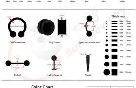 Body Jewelry Size Chart Every Body Jewelry Wholesale
