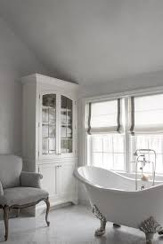 white and grey french bathrooms